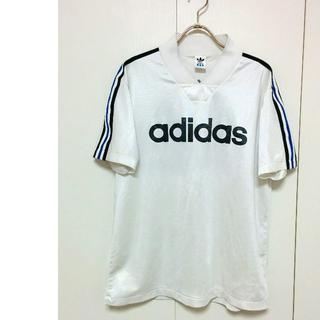 アディダス(adidas)のデサント製 アディダス ゲームシャツ 背中ビッグロゴ adidas(Tシャツ/カットソー(半袖/袖なし))