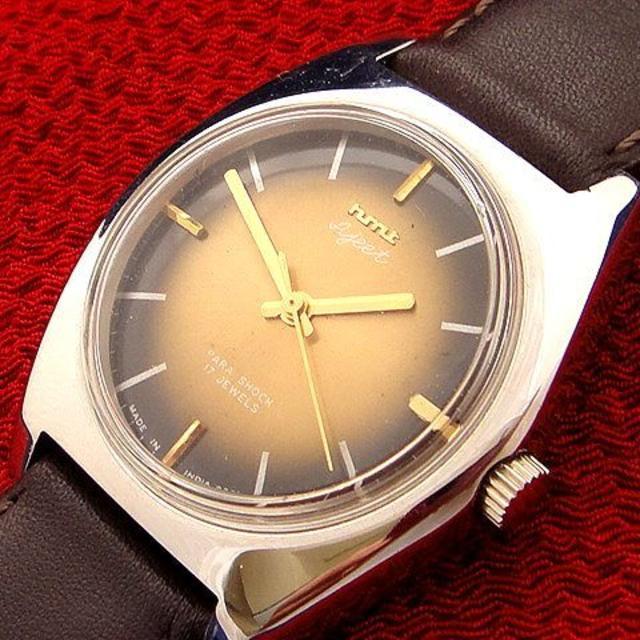美品★ビンテージ HMT 17石 シルバーカラーケース 手巻き腕時計の通販 by アンティークチョップ's shop|ラクマ