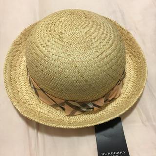 バーバリー(BURBERRY)のBurberry麦わら帽子 52(帽子)