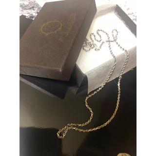 アヴァランチ(AVALANCHE)のアヴァランチ  14k ホワイトゴールド ネックレス 50cm(ネックレス)