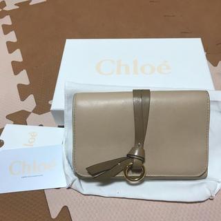 611621ae9688 クロエ(Chloe)の美品 クロエ アルファベット 折財布 リングチャーム ベージュ クリーム(