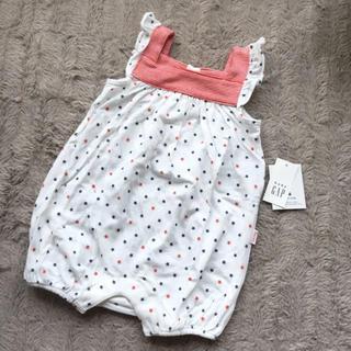 ベビーギャップ(babyGAP)の新品♡babygap 袖フリル 星柄ロンパース 60(ロンパース)