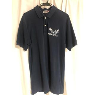 アベイシングエイプ(A BATHING APE)のエイプ  ポロシャツ  ネイビー  Lサイズ(ポロシャツ)