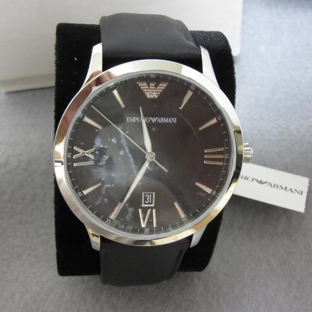 Emporio Armani - 2019年新作 ARMANI 高級メンズ腕時計 ジョバンニ 3針デイト革ベルトの通販 by 5/27-5/29旅行のため発送不可です|エンポリオアルマーニならラクマ