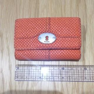 フォッシル(FOSSIL)のFOSSIL 牛革 財布 中古美品 折りたたみ(折り財布)