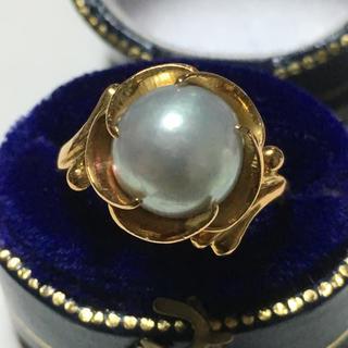 k18 捻り梅 昭和レトロ ヴィンテージリング(リング(指輪))