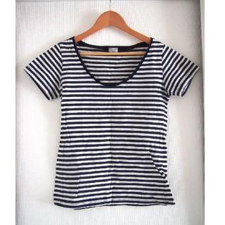 シェル(Cher)の❤️値下げ❤️【cher】ネイビー✕ライトグレー ボーダーTシャツ シェル(Tシャツ(半袖/袖なし))