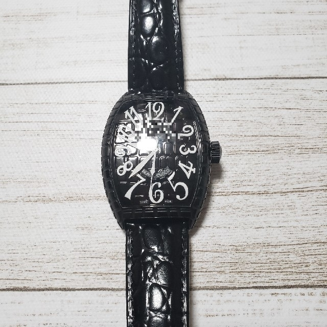 IWC偽物 時計 低価格 | FRANCK MULLER - ブラッククロコ 腕時計の通販 by けん's shop|フランクミュラーならラクマ