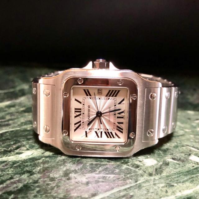 ブランパン偽物 時計 低価格 - Cartier - カルティエ:サントス ガルべ LM オートマティックの通販 by umschau|カルティエならラクマ