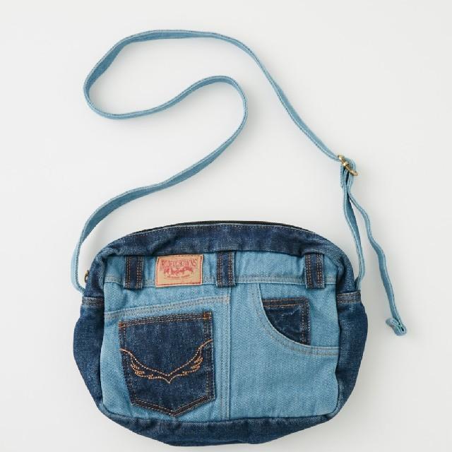 RODEO CROWNS WIDE BOWL(ロデオクラウンズワイドボウル)の0528デニムコンビポシェット レディースのバッグ(ショルダーバッグ)の商品写真