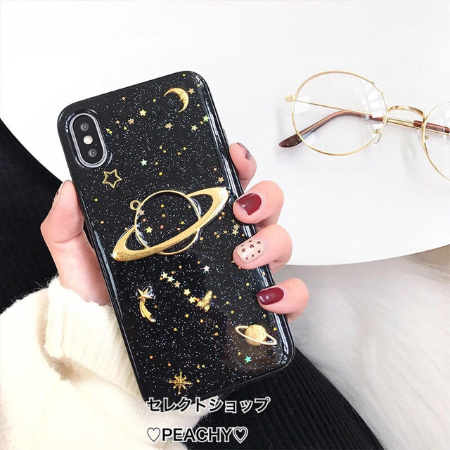 宇宙 グリッター iPhone ケースの通販 by ♡Queen Land♡|ラクマ