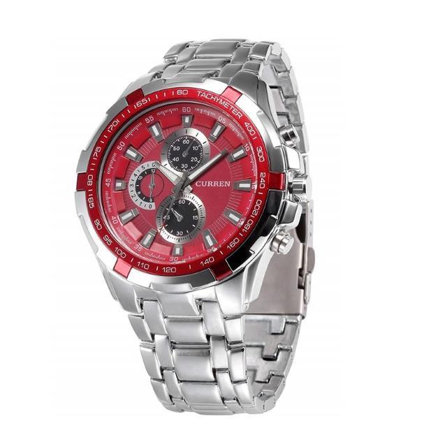 ロレックス オイスターデイト | 売れてます☆ウォッチ ステンレススチール クォーツ 腕時計(レッド)の通販 by トモ's shop|ラクマ