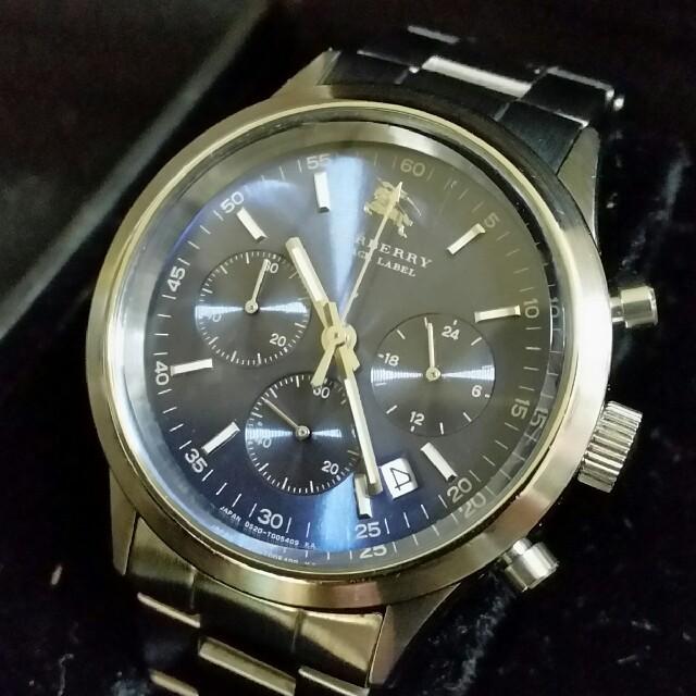 BURBERRY - BURBERRYバーバリー ブラックレーペル クロノグラフ メンズ腕時計の通販 by SAPHO' SHOP|バーバリーならラクマ