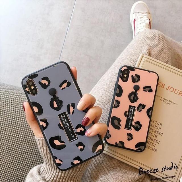 iphone x 純正 クリア ケース / iPhoneケース レオパード 豹柄 ピンク リング付きの通販 by ゴッティ's shop|ラクマ