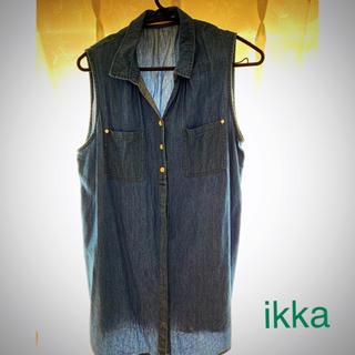 イッカ(ikka)のノースリーブデニムシャツ(シャツ/ブラウス(半袖/袖なし))
