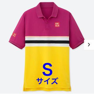 ユニクロ(UNIQLO)の【完売品】Sサイズ 2019 全仏 錦織圭選手 ユニクロ ポロシャツ PINK(ウェア)