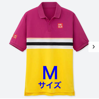 ユニクロ(UNIQLO)の【完売品】Mサイズ 2019 全仏 錦織圭選手 ユニクロ ポロシャツ PINK(ウェア)
