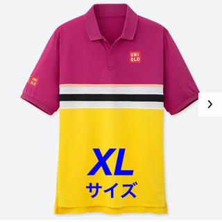 ユニクロ(UNIQLO)の【完売品】XLサイズ 2019 全仏 錦織圭選手 ユニクロ ポロシャツ PINK(ウェア)