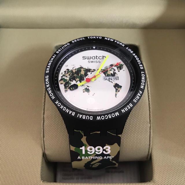 ブルガリ偽物 時計 2ch - A BATHING APE - 新品 エイプ スウォッチ BAPE THE WORLD 迷彩 カモフラの通販 by yuki0307|アベイシングエイプならラクマ