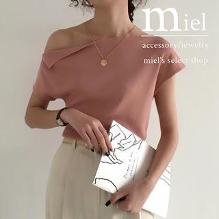 アメリヴィンテージ(Ameri VINTAGE)の《7colour》one shoulder simple tops(カットソー(半袖/袖なし))