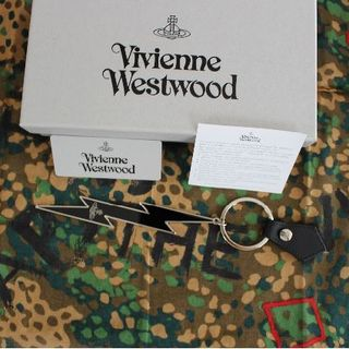 ヴィヴィアンウエストウッド(Vivienne Westwood)の新品 ヴィヴィアン THUNDERBOLT キーリング ブラック(キーホルダー)