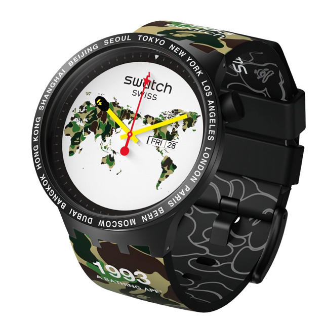A BATHING APE - A BATHING APE BAPE × swatch 時計 camo カモの通販 by @'s shop|アベイシングエイプならラクマ