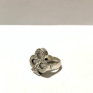 クーティー(COOTIE)の値下げ Engraved Club Ring (With Stone) (リング(指輪))