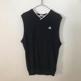 アディダス(adidas)のADIDAS アディダス ノースリーブ ベスト ビンテージ 重ね着る レア(Tシャツ/カットソー(半袖/袖なし))