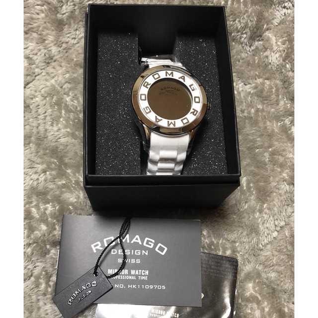 韓国 腕時計 ブランド | 【新品】Romago ホワイト ロゴ 腕時計 白 メンズ レディース の通販 by みいたろ's shop|ラクマ