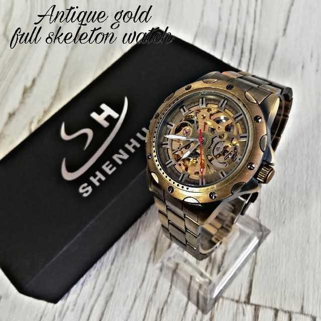 【海外限定】Shehua メンズ 腕時計 ウォッチ アンティークの通販 by レオさくら's shop|ラクマ