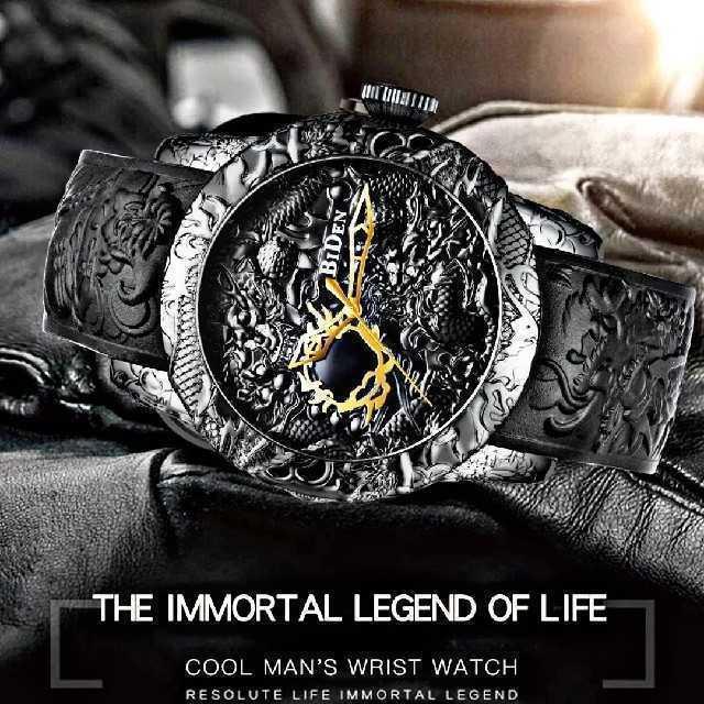 【海外限定ウォッチ】Bidin黒龍モデル 腕時計 メンズ ウォッチ ブラックの通販 by レオさくら's shop|ラクマ