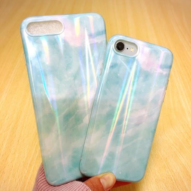 綺麗 エメラルド オーロラ iPhone7/8 ケース 艶々の通販 by noropochan's shop|ラクマ