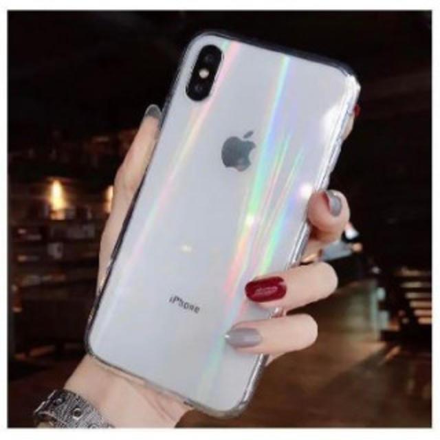 iphone x ケース カラビナ 、 人気 IPHONE XR iPhoneケース オーロラ ホログラム 加工 虹色の通販 by hana★在庫処分★スマホケース|ラクマ
