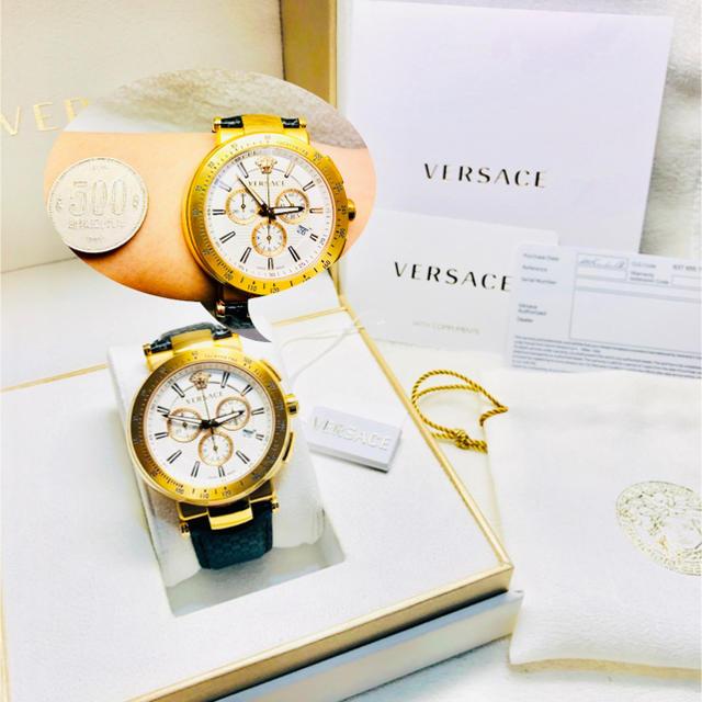 パテックフィリップ偽物懐中 時計 - VERSACE - 美品 ヴェルサーチ メンズ 腕時計の通販 by Y1102's shop|ヴェルサーチならラクマ