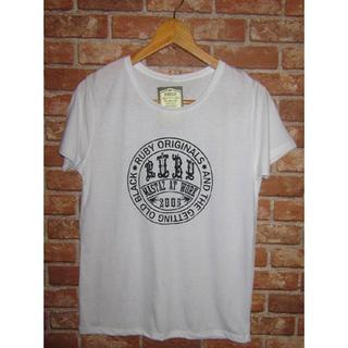 キャリー(CALEE)のRUBY サークルプリントロゴTシャツ(Tシャツ/カットソー(半袖/袖なし))