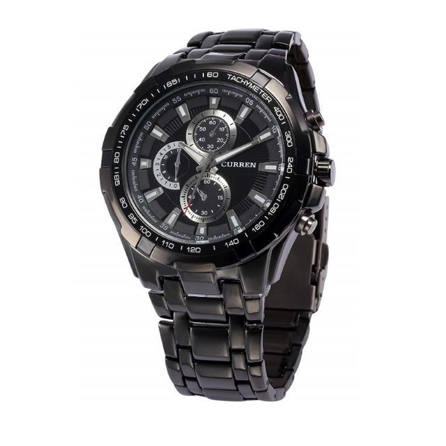 売れてます☆ウォッチ ステンレススチール クォーツ 腕時計(ブラック)の通販 by トモ's shop|ラクマ
