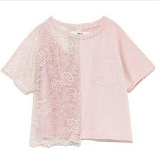 ファーファー(fur fur)のFURFUR レースコンビTシャツ(Tシャツ(半袖/袖なし))