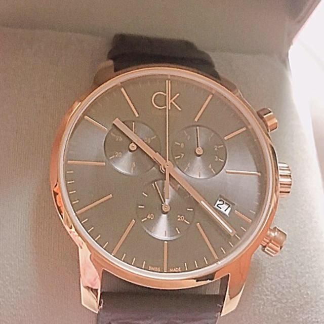 クロノスイス 時計 スーパー コピー スイス製 、 Calvin Klein クロノグラフ ピンクゴールドの通販 by SleepShop|ラクマ