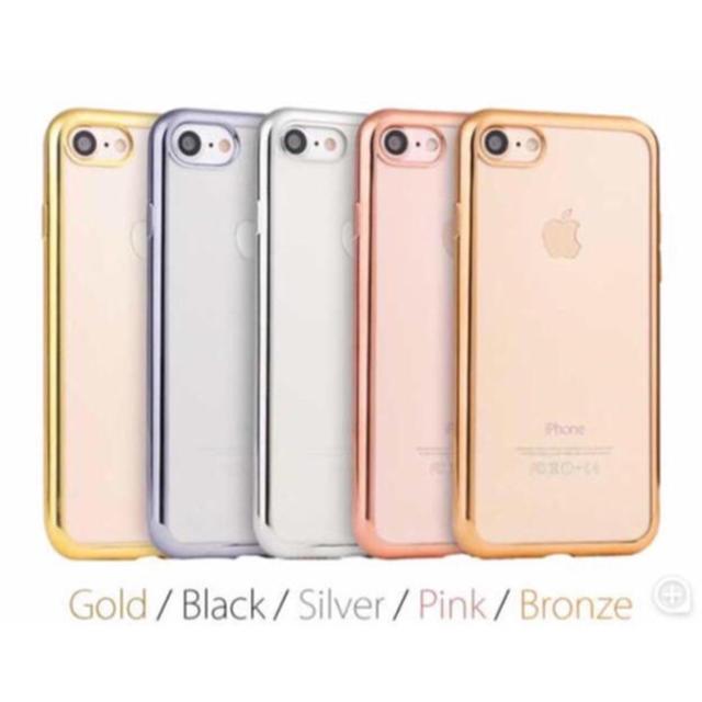 iphone 8 携帯 ケース - (人気商品) iPhone メッキ加工クリアケース (5色)の通販 by プーさん☆|ラクマ