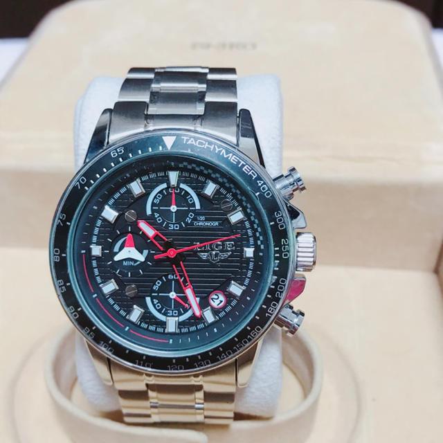 LIGE クロノグラフ 腕時計の通販 by JJ|ラクマ