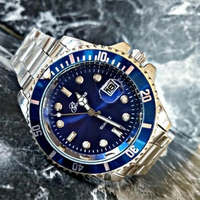 クロノスイス 時計 コピー 100%新品 - 海外限定【Gemeva3230】Silver blueモデル 腕時計の通販 by さとこショップ|ラクマ