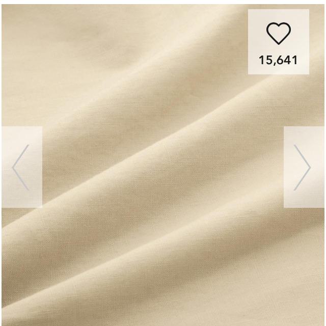 GU(ジーユー)の★新品 GU ジーユー リネンブレンドフロントボタンブラウス ベージュ レディースのトップス(シャツ/ブラウス(半袖/袖なし))の商品写真