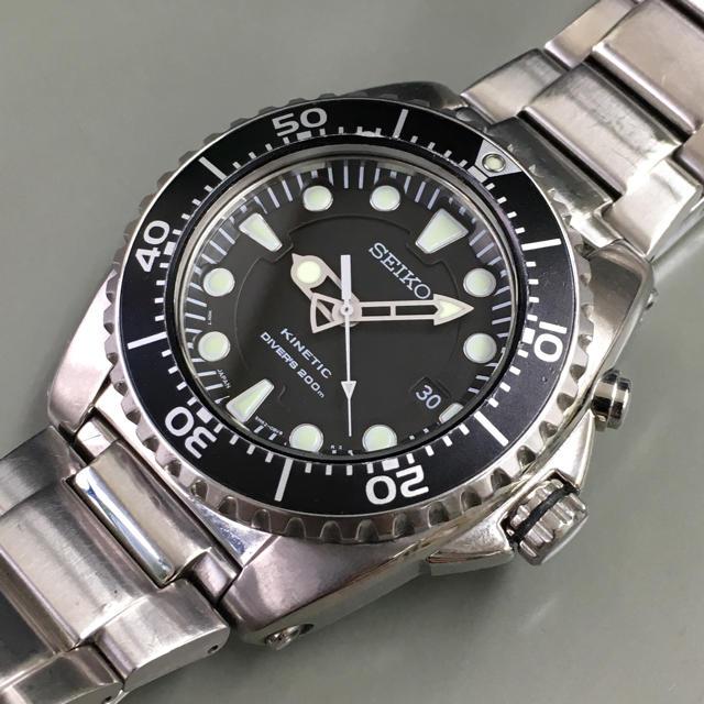 SEIKO - セイコー キネティック ダイバーズ 200m 二次電池新品の通販 by ほぼ時計屋|セイコーならラクマ