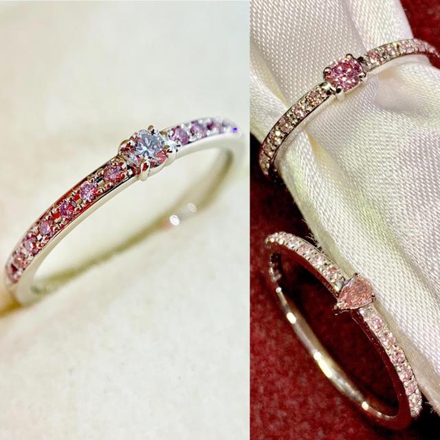 【値下げ】インテンスピンク ダイヤモンド マーキスカット レディースのアクセサリー(リング(指輪))の商品写真