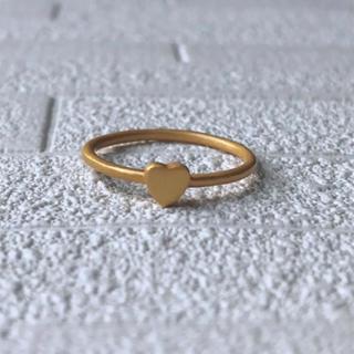 ハートゴールドリング★インドジュエリー 22Kゴールドプレーテッド(リング(指輪))