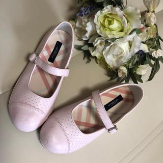 バーバリー(BURBERRY)の♪バーバリー♪淡いピンクの素敵シューズ♪21cm(フォーマルシューズ)