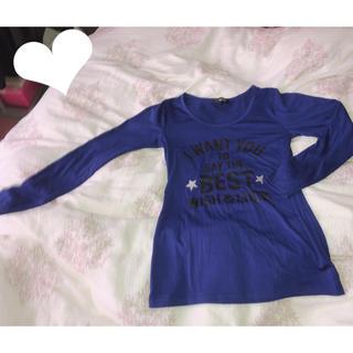 スズタン(suzutan)のロゴ入りロンT ブルー(Tシャツ(長袖/七分))