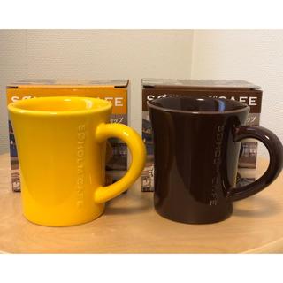 ディーンアンドデルーカ(DEAN & DELUCA)の【新品・未使用】非売品 ボス×スーホルムカフェ メモリ付きマグカップ 2個セット(グラス/カップ)