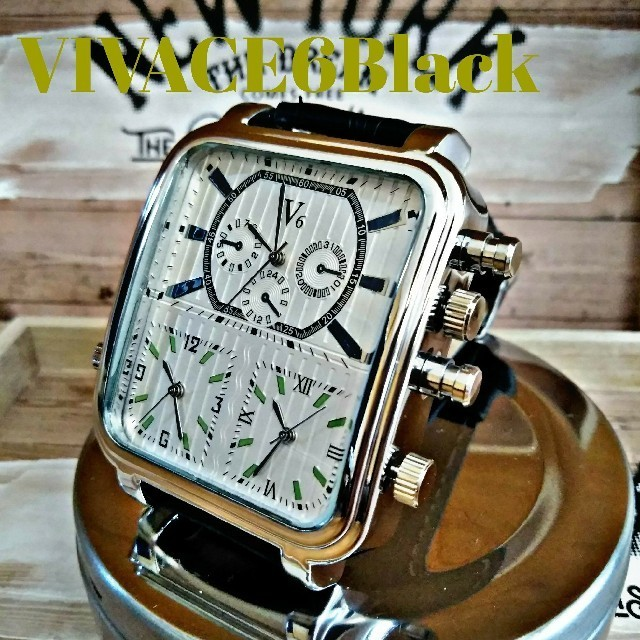 時計 偽物 見分け方 ブライトリング | 【奏kanade】時を刻む【VIVACE6Black】腕時計 ウォッチの通販 by さとこショップ|ラクマ