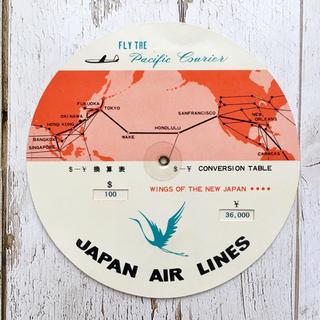 ジャル(ニホンコウクウ)(JAL(日本航空))の日本航空 JAL 1960年代 ドル/円 換算表 昭和 ヴィンテージ レア☆(航空機)